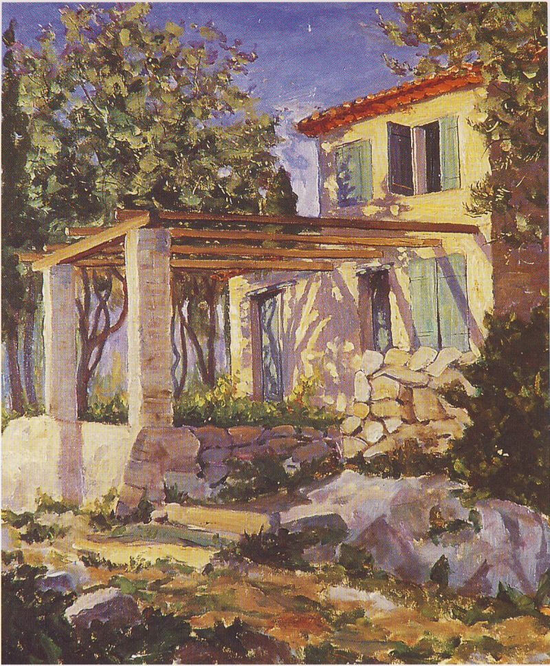 Churchill Painting At Eze Sur Mer
