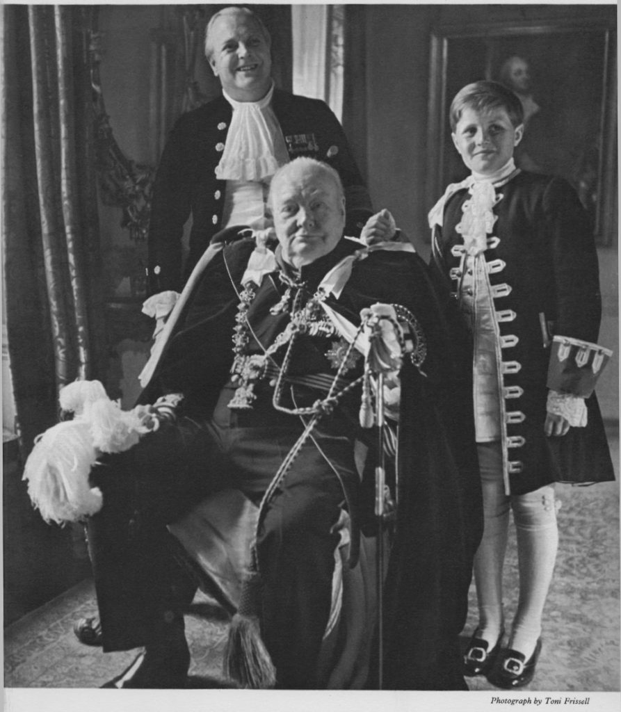 Sir Winston with his son and grandson