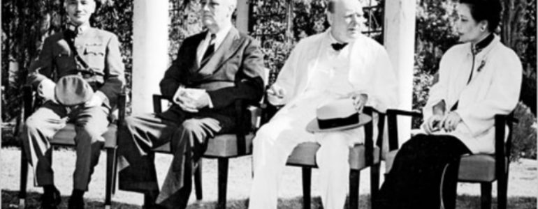 Churchill with Roosevelt, Chang Kai-Shek and Soong Mei-ling