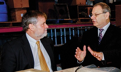 Larry Arnn and Martin Gilbert, 2002
