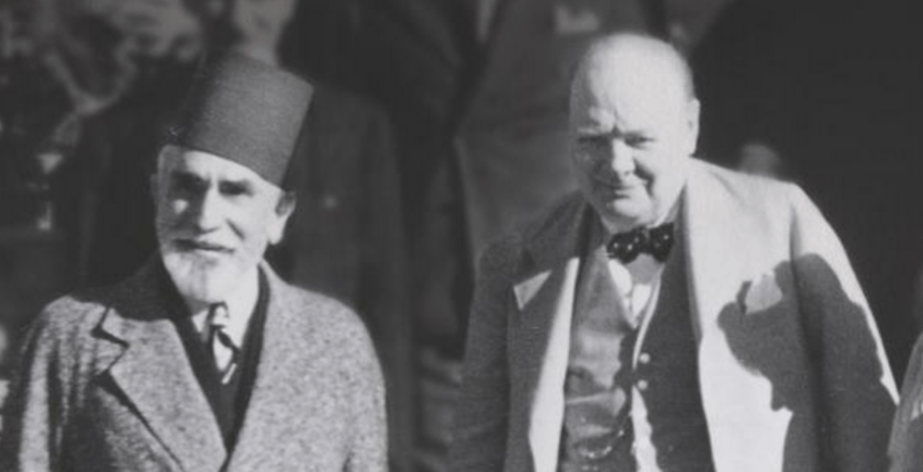 "From the cover of ""Churchill and the Islamic World"""