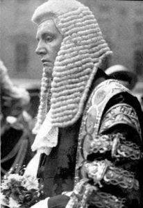 Sir F.E. Smith, newly created Lord Birkenhead, on his appointment as Lord Chancellor