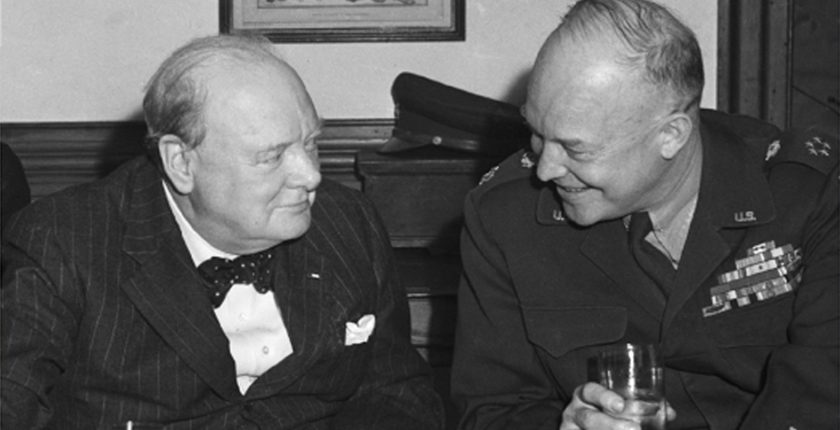 From the Cover of Churchill & Eisenhower