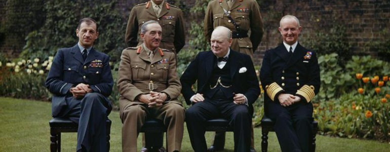 Churchill and his military commanders