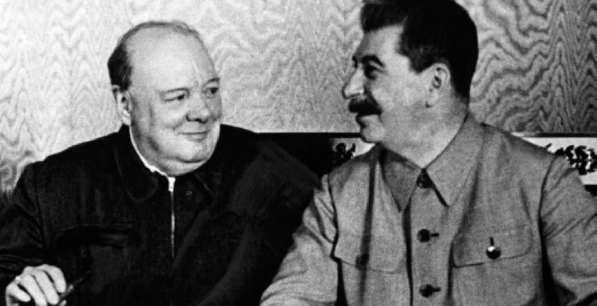 Churchill and Stalin - Moscow, 1942
