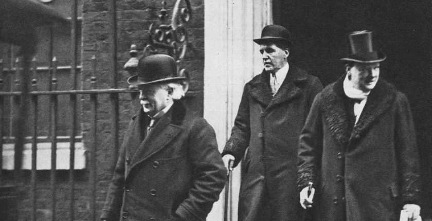 Lloyd George, Lord Birkenhead and Churchill, 1921