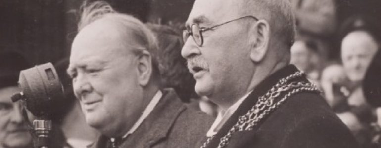 Hyman Morris and Winston Churchill