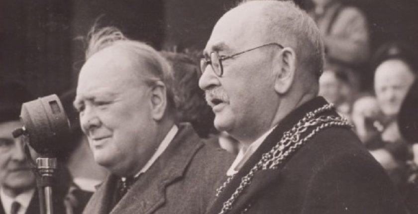 Hyman Morris and Winston Churchill