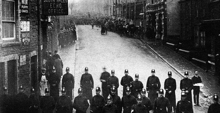 Police at Tonypandy