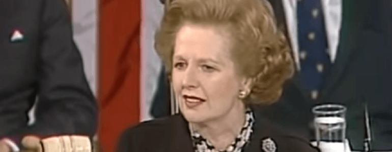 Margaret Thatcher in congress