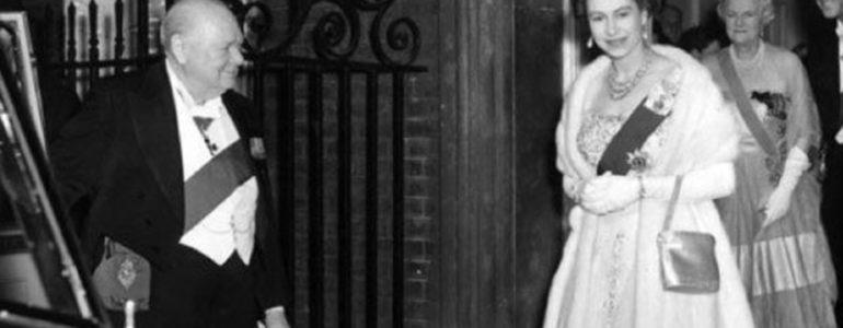 Churchill and Queen Elizabeth, 1955