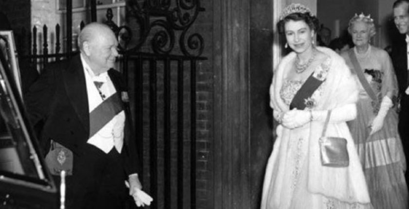 Churchill and Queen Elizabeth, 1955