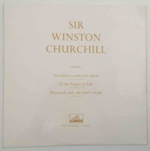An example of the EMI eleven-disc set of speech recordings issued at the time of Sir Winston's death. These are often confused with, but are different in content, from the London and Decca twelve-disc sets.