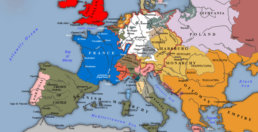 Europe in 1700