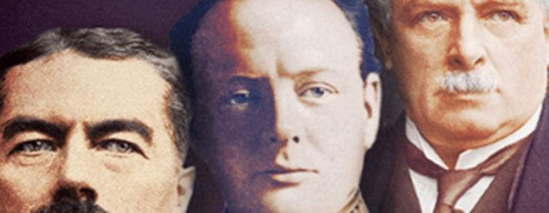 "From the cover of ""Churchill, Kitchener and Lloyd George"""