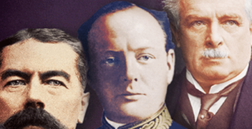 """From the cover of """"Churchill, Kitchener and Lloyd George"""""""