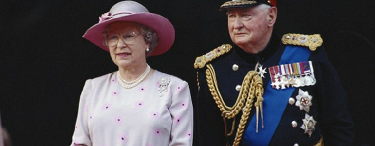 FM Lord Bramall with the Queen