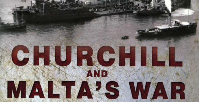 From the cover of Churchill and Malta's War