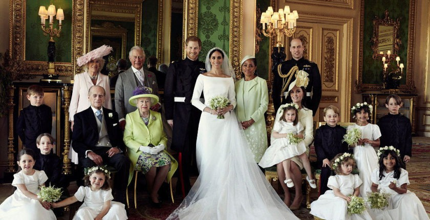 Prince Harry wedding, family photograph