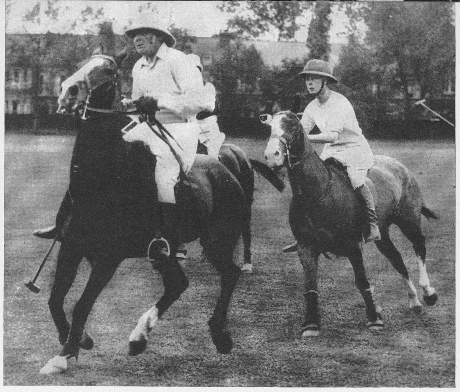 A chukka with the Prince of Wales, later Edward VIII, 1924. (UPI)