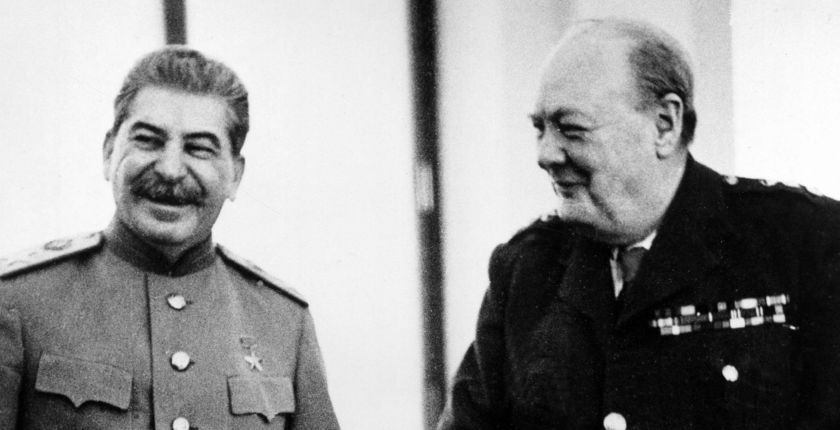 Just perfect partners: Stalin and Churchill at Yalta, February 1945