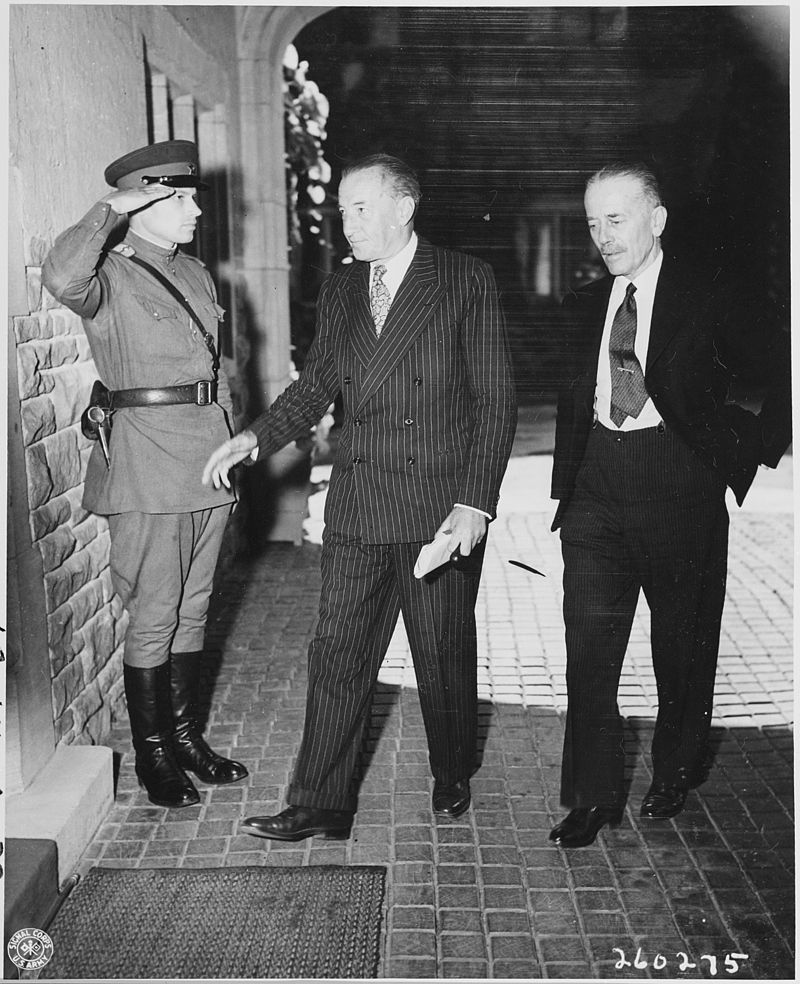 Sir Archibald Clark Kerr and Alexander Cadogan at Potsdam, July 1945