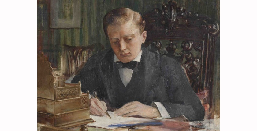 Painting of Young Winston Churchill, unknown artist