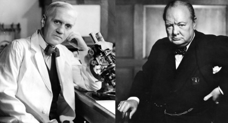 Fleming and Churchill (Karsh, 1941)