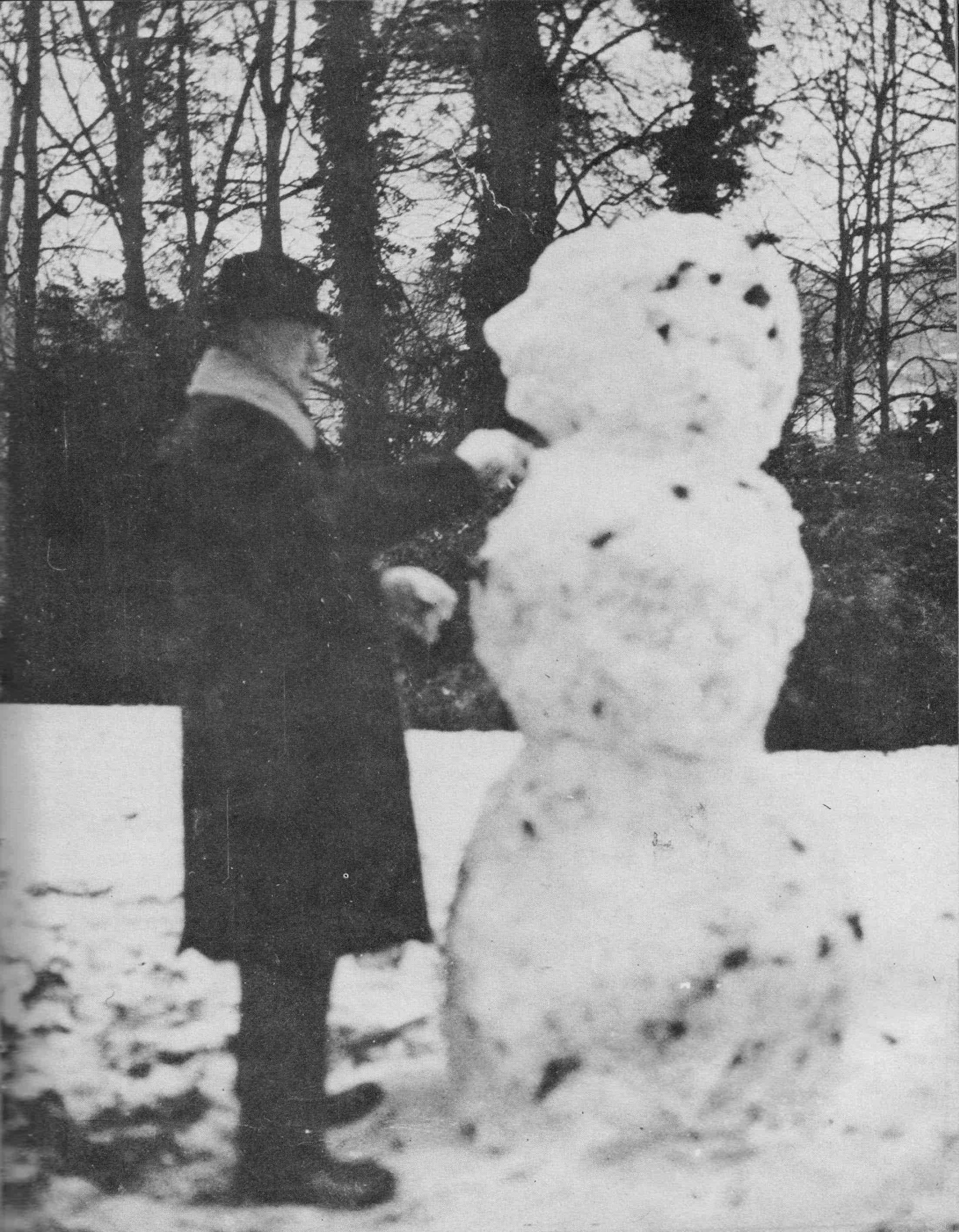 Churchill and snowman